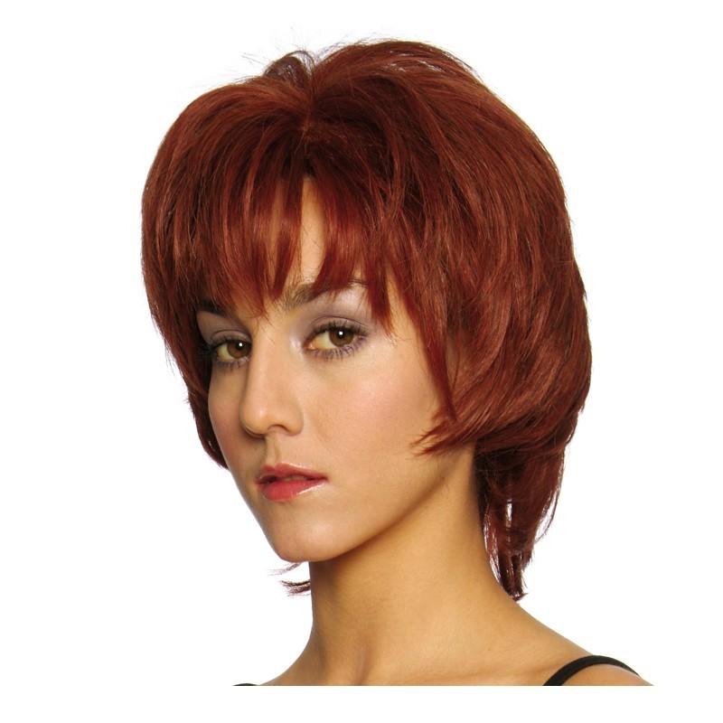 Peluca cabello sintético (fibra) hecha a mano modelo IR-Wolf 10cm. de la línea Afrodita de Ireal.