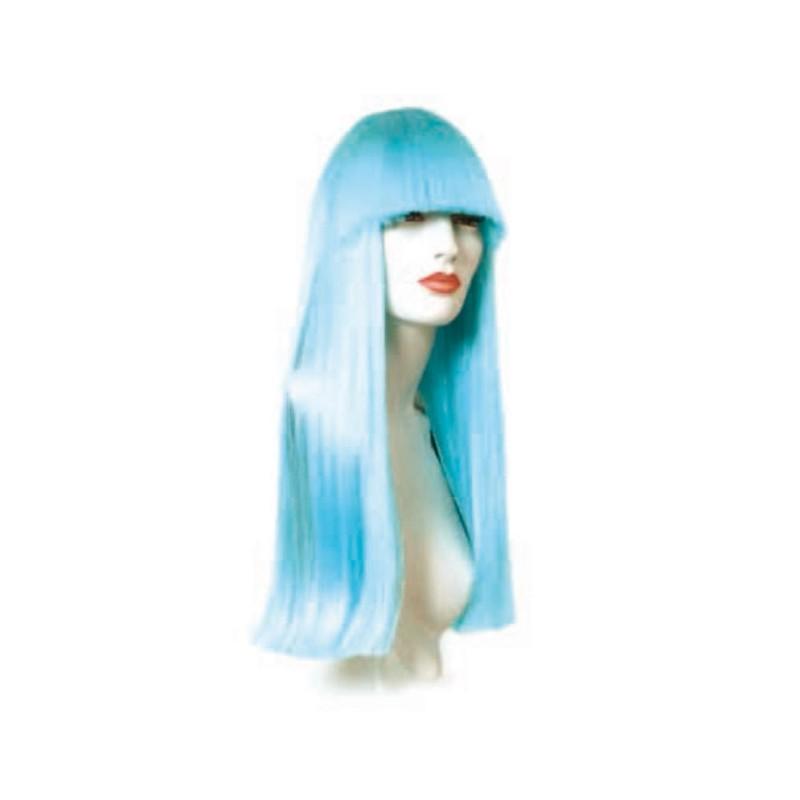 Peluca cabello sintético (fibra) de colores vivos hecha a máquina modelo IR-Carol 55 cm. de Ireal.