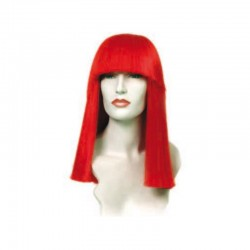 Peluca cabello sintético (fibra) de colores vivos hecha a máquina modelo IR-Carol 40 cm. de Ireal.