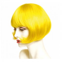 Peluca cabello sintético (fibra) de colores vivos hecha a máquina modelo IR-Charleston 25 cm. de Ireal.