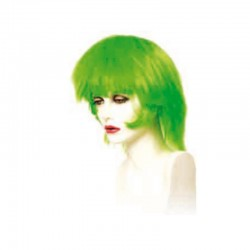 Peluca cabello sintético (fibra) de colores vivos hecha a máquina modelo IR-Andrea verde de Ireal.