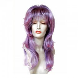 Peluca cabello sintético (fibra) de colores vivos hecha a máquina modelo IR-Estrella de Ireal.