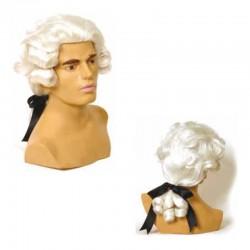 Peluca cabello sintético (fibra) de época hecha a máquina modelo IR-1 estilo Mº Antonieta de Ireal.
