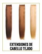 Extensiones naturales de cabello tejido (Weft long hair)
