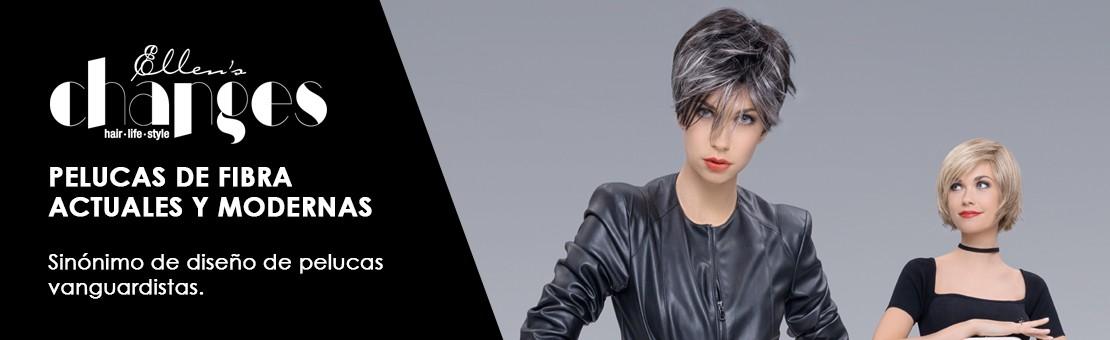 Línea de pelucas de la marca internacional Ellen Wille, pelucas actuales y modernas en cabello sintético.