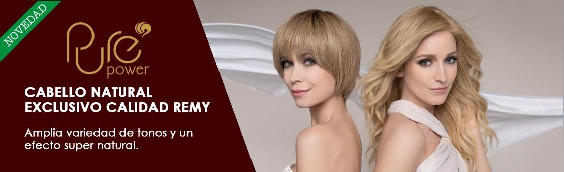 Línea de pelucas de la marca internacional Ellen Wille, pelucas fabricadas con cabello natural calidad Remy.