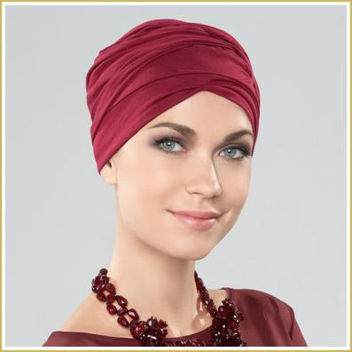 Ireal pelucas centro capilar gorros sombreros turbantes tocados pañuelos Ellen Wille